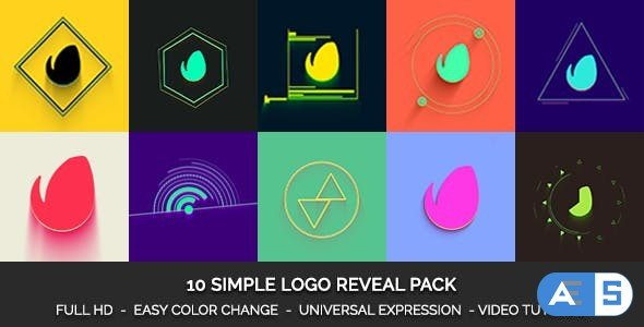 Videohive Simple Logo Reveal Pack 19322145