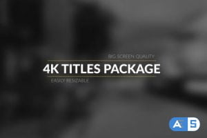 Videohive 4k Broadcast Titles Package 17535135