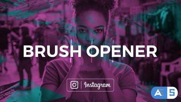 Videohive Brush Opener 23186120
