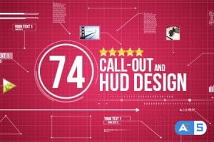 Videohive 74 Call-Out and Hud Design Pack 12926995