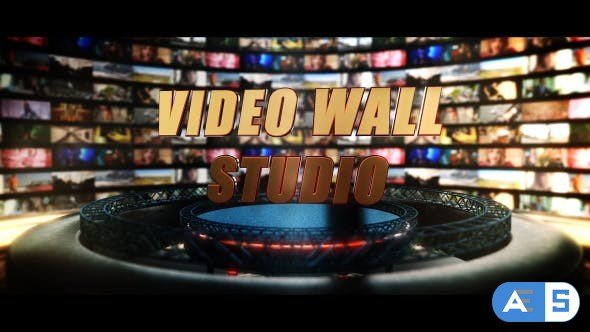 Videohive Video Wall Studio 9820733