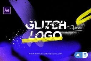 Videohive Glitch Logo Intro Grunge Distortion 29199144