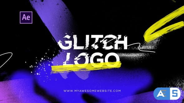 Videohive Glitch Logo Intro Grunge Distortion 29199144