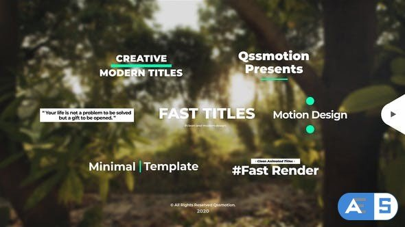 Videohive Creative and Clean Titles Package 29162029
