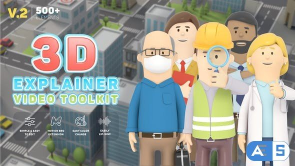 Videohive 3D Characters Explainer Toolkit V2 26491556