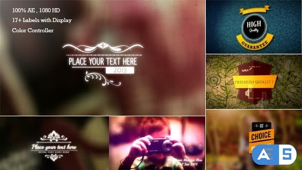 Videohive Retro Titles and Labels 6551793