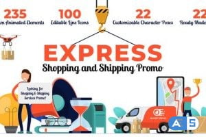 Videohive Express Shopping & Shipping Promo 26851115