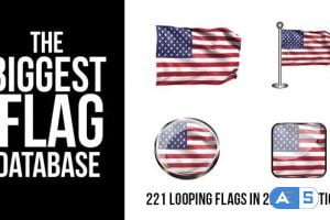 Videohive 221 Looping World Flags 9255626