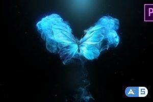 Videohive Flying Butterfly Logo Reveal 4k- Premiere Pro 24346498