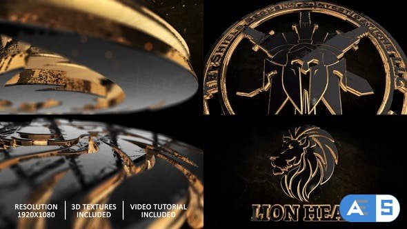Videohive Gold Black And Shine Logo Reveal 28498726