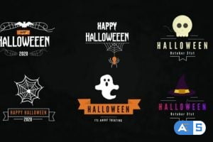 Videohive Halloween Titles Pack-Premiere Pro 28858249