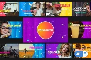 Videohive Colorful Slideshow | After Effects 28828314