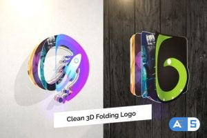 Videohive Clean 3D Folding Logo Reveal 27578221