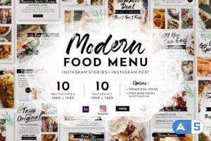 Videohive Modern Food Menu Instagram Stories 28331308