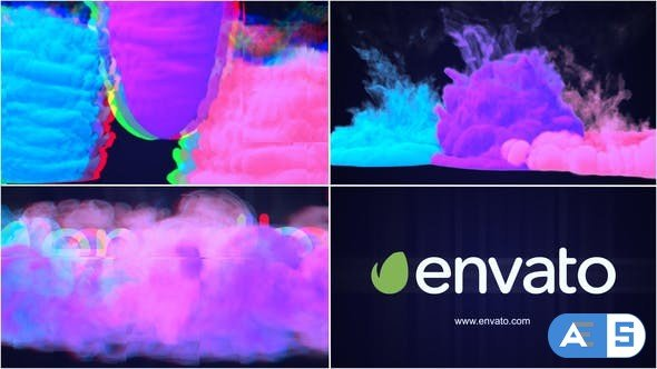 Videohive Glitch Smoke Logo Reveal 22143312