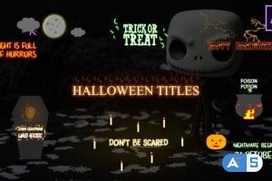 Videohive Halloween Cartoon Titles | After Effects 29174191