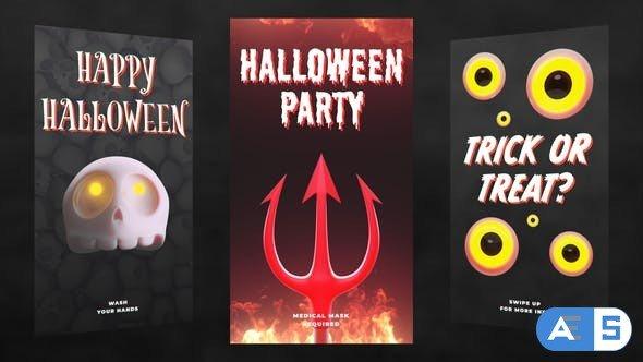 Videohive Halloween Stories Pack 29060313