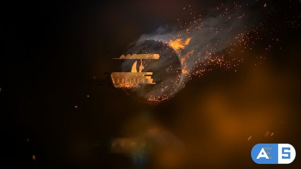 Videohive Rotating Fire Logo Reveal 23438890