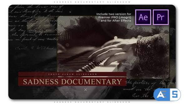Videohive Sadness Documentary Slideshow 28805795