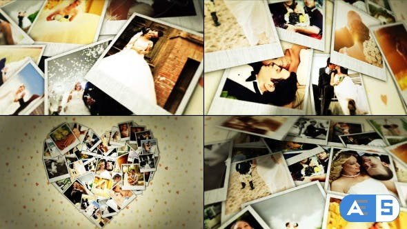 Videohive Wedding Hearts Photos 10351765