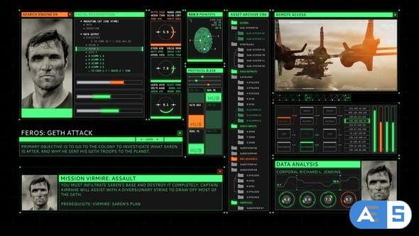 Videohive HUD Retro User Interface Screen 25744048