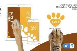 Videohive Pets Flat MockUp Device Kit 14345010