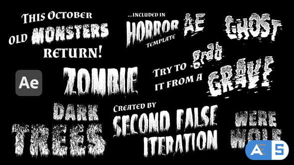 Videohive Monsters – Retro Horror Titles 29012308