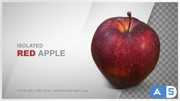 Videohive Isolated Red Apple (Rotate Turn Table) 24367131
