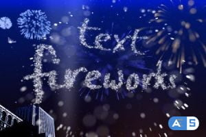 Videohive Text Fireworks 307544