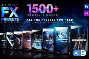 Videohive Presets Pack for Premiere Pro: Transitions, Titles, Effects, VHS, LUTS, Logo 24028073