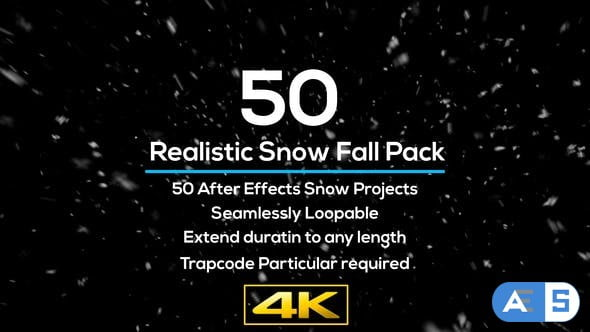 Videohive 50 Realistic Snow Falls Project Pack 29151895