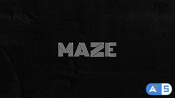 Videohive Maze – Animated Typeface 29299085