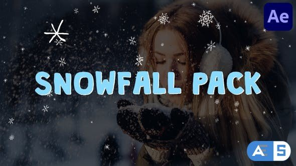 Videohive Cartoon Snowfall | After Effects 29516083