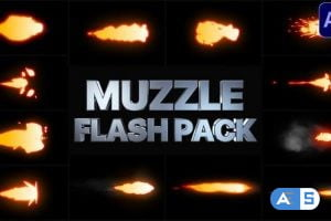 Videohive Muzzle Flash Pack | After Effects 29238108