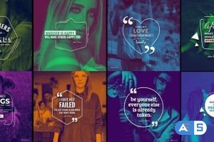 Videohive 20 Qoutes Titles Instagram Pack 1 29331548
