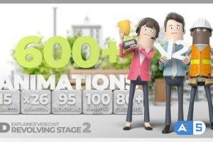 Videohive 3D Explainer Video Kit Revolving Stage V2 28824485