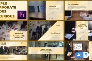 Videohive Simple Corporate Slides Luxurious – Premiere Pro 28915110