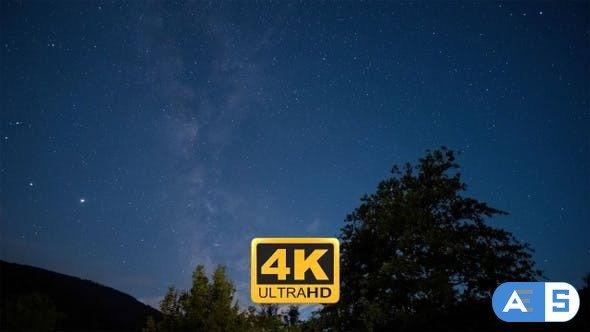 Videohive Night Sky Milky Way Time Lapse 27735062