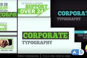 Videohive Corporate Typography 2551573