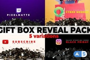 Videohive Gift Box Reveal Packs | Social Media | Black Friday & Cyber Monday 29504147