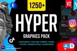 Videohive Hyper – Graphics Pack V2 24835354