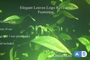 Videohive Elegant Leaves Logo Reveal V2 18142899