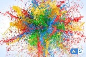 Videohive Exploding Paints Logo Reveal 20751062