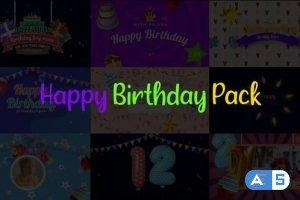 Videohive Happy Birthday Pack 29866195