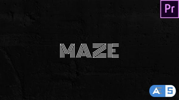 Videohive Maze – Animated Typeface for Premiere 29599001