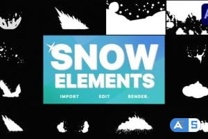 Videohive Snowy Elements | After Effects 29621259