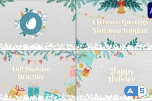 Videohive Christmas Greetings Slideshow | After Effects 29694503