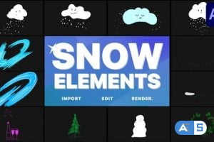 Videohive Cartoon Snow Clouds | After Effects 29691753
