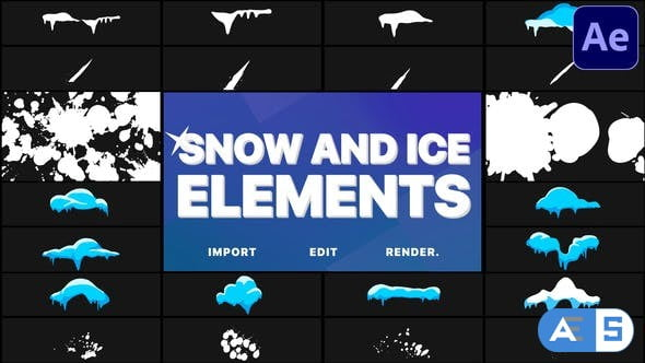 Videohive Snow And Ice Elements | After Effects 29779680
