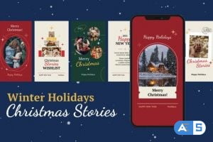 Videohive Winter Holidays Christmas Stories 29835825